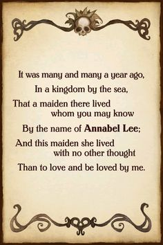 Aw how beautiful . What a beautiful dark mind he had , I love that . Edgar Allen Poe, Edgar Allan, I Love Books, My Books, Annabel Lee, Kindred Spirits, Quotations, Qoutes, Classic Books