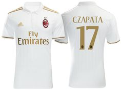 AC Milan  17 Cristian Zapata 2016-17 Road Jersey Ac Milan 10ae46b54afc5