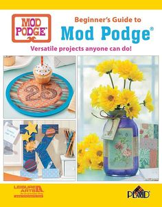 Beginner's Guide to Mod Podge® - Crafting with Mod Podge® products is the modern approach to decoupage, making it fast and easy to add personality to home décor, upcycling, kids' crafts, and gifts. Beginner's Guide to Mod Podge® introduces the versatile line of products from Plaid Enterprises and explains how to use them to create unique home accessories and crafts. Projects include See the USA Boxes, Favorite Things Wood Tray, Washer Necklaces, Out of This World Letter, Maps & Flowers…