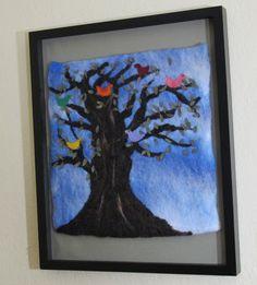 Coexist Wool Felt Tree Framed Wall Art from Nestle and Soar