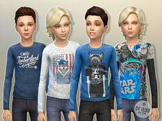 Designer Shirt P01 by lillka at TSR via Sims 4 Updates