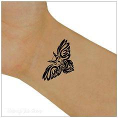 Owl Temporary Tattoo 2 Wrist Tattoos by UnrealInkShop on Etsy