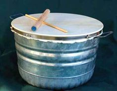 The djunbasket is one of a family of homemade drums.  This one is a nice loud drum circle drum, that is inexpensive to make and very portable!