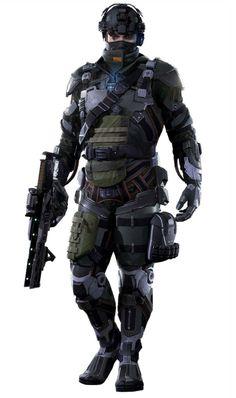 ArtStation - Killzone Shadow Fall - SHadow Marshal, Efgeni Bischoff