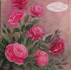Roses by Sandy McTier  10x10 canvas in wOils #wOils