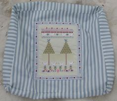 2 tree farm machine embroidery design