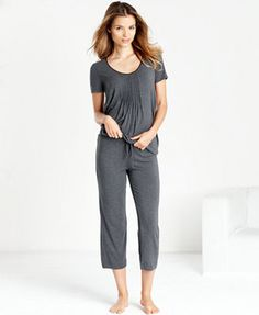 DKNY Seven Easy Pieces Top and Capri Pajama Pants