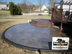 Stamped Concrete Patio Mason Ohio Seamless Slate Pattern with Border