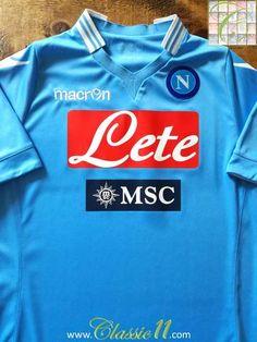 2013 14 Napoli Home Football Shirt   Classic Soccer Jersey  c7ba4a4ff