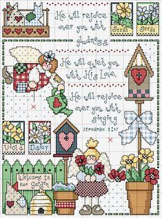 Schema punto croce Quadro Countriy 22
