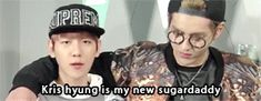 HAHAHAHAHA XD #Kris #Baekhyun sugardaddy kris bingo
