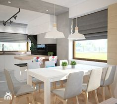 Aranżacje wnętrz - Jadalnia: Projekt domu jednorodzinnego z pastelowymi kolorami - Jadalnia, styl nowoczesny - Mart-Design Architektura Wnętrz. Przeglądaj, dodawaj i zapisuj najlepsze zdjęcia, pomysły i inspiracje designerskie. W bazie mamy już prawie milion fotografii!