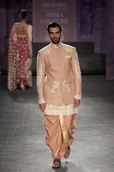 Anju Modi at India Couture Week 2014 - groom kurta Wedding Outfits For Groom, Wedding Dress Men, Indian Wedding Outfits, Wedding Men, Wedding Suits, Wedding Ideas, Bridal Outfits, Indian Weddings, Farm Wedding