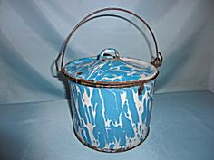 Vintage Graniteware Lunch Pail with Lid. Click on the image for more information.