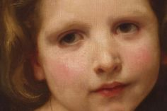 """Head of a Child, Study"" (detail), William-Adolphe Bouguereau. (via)"