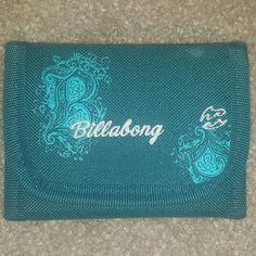 Teal Billabong wallet Small billabong wallet in great condition! Billabong Bags Wallets
