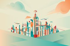 Future Cities Illustrations: http://www.playmagazine.info/future-cities-illustrations/