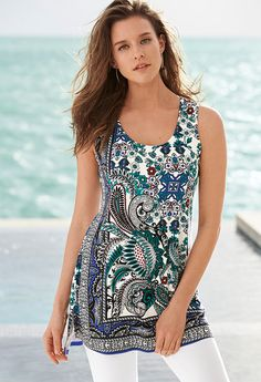 We ❤ this tunic with a print that pops. Soma | Summer Style