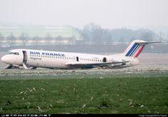 Fokker 100 F-GMPG 11362 Pau Pont Long Uzein - LFBP