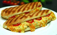 Free Recipe Imagesof sandwiches | grilled panini sandwich with cheese, egg and tomatoes