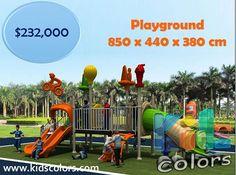 $ 232000 Playground 850 x 440 x 380 cm Playground NO INCLUYE ENVÍO NI INSTALACIÓN  ENTREGA INMEDIATA Llámanos: 4499162626 4491401920 4499163199  Uso: Juego Infantil para exteriores ideal para parques públicos centros comerciales y hoteles! Medidas: 850 x 440 x 380 cm (largo x ancho x alto) Tubulares: Acero de 80 mm de diámetro pintado con sistema HTBV (High Temperature baking vanish) Plásticos: LLDPE (Linear Low Density Polyethilene) de 8 mm de espesor Estándar de fabricación: Bajo normas…
