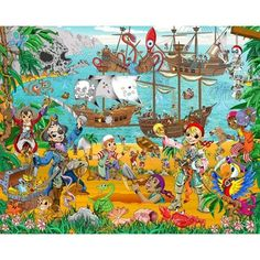 Fotomural Infantil Pirate And Treasure Adventure
