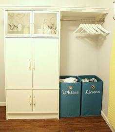 IHeart Organizing: Laundry Room Update: Airing Our Clean Laundry