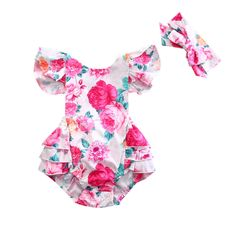 b0d839979 Ava Rose Flutter Romper Set. Girl SleevesBaby ...