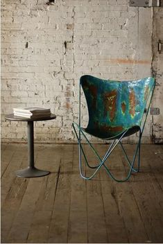 Kalalou Iron Butterfly Chair - We've put a modern spin on an old classic. This butterfly chair is made of recycled metal, giving it a rustic, yet elegant aesthetic. Carefully crafted for comfort – Modish Store