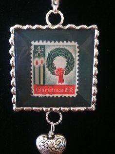 A vintage stamp pendant!