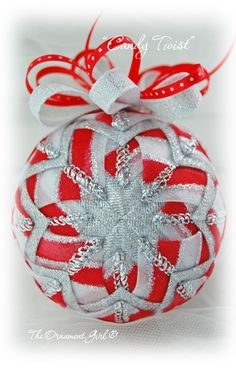 Red/White DIY ribbon ornament