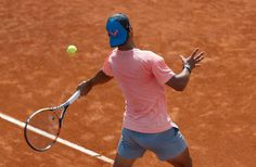 Rafael Nadal practices at Madrid Open