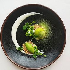 chilled pea soup with coconut and wasabi by @thomekas - #chefsroll #rollwithus