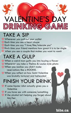 Valentine's Day Wine drinking game with your lover