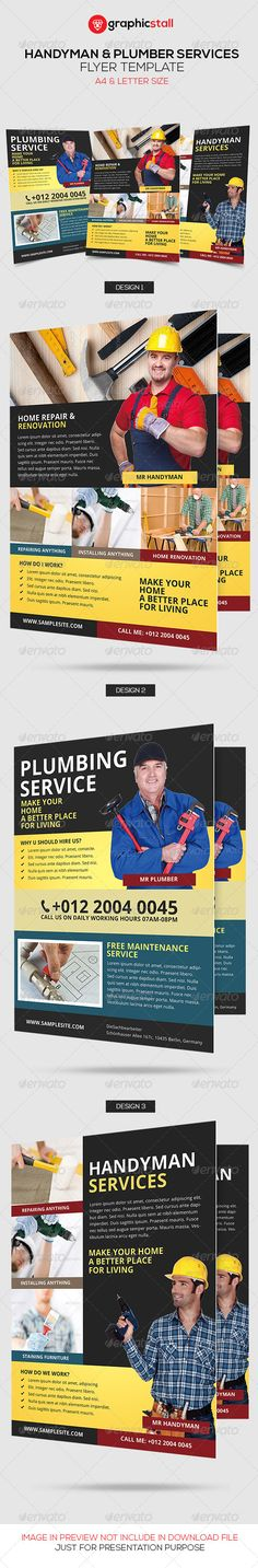 Handyman & Plumber Services Flyer - Corporate Flyers | Download http://graphicriver.net/item/handyman-plumber-services-flyer/6745676?ref=sinzo