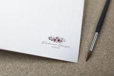 Floral Logo Design Premade Logo Watercolor Logo di AYAKAstudio