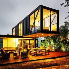 The shipping container home layout is a new kind of architecture that uses the shipping containers (with steel substance ) as structural kind. Locating a used shipping container and turning it to a home is much cheaper than getting a… Continue Reading → Modern Tiny House, Tiny House Design, Modern House Design, Shipping Container Home Designs, Shipping Containers, Shipping Container Office, Building A Container Home, Cargo Container Homes, Container Architecture