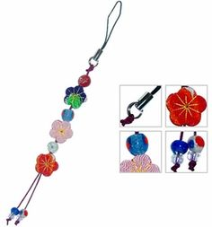 "Today's feature product: Floral Japanese Hanging Charms  From cellular phones to door handles, our Japanese charms can be hung almost anywhere. Facts and features:  • Measure 6.0"" l x 0.25"" w • Made from cloth • Sold Individually  http://www.asianideas.com/jahach1.html"