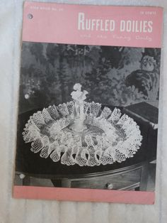 Ruffled Doiles and the Pansy Doily Star Book No. 59 MendozamVintage, $2.99 Crochet Patterns for the pretty and fluffy