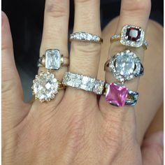 Customer collection of rings from Diamond Candles
