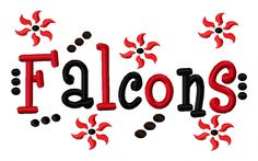 Falcons #Applique Machine #Embroidery Design 4x4 7x5 10x6 #Atlanta Georgia Team I,  View more on the LINK: http://www.zeppy.io/product/gb/3/248002563/
