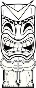 Dead End Tiki Totem Pole Coloring Pages sketch template - Sketch Templates - Ideas of Sketch Templat Aloha Party, Moana Birthday Party, Hawaiian Birthday, Hawaiian Theme, Luau Birthday, Hawaiian Luau, Luau Party, Beach Party, Hawaiian Parties