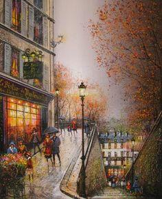 Fine Art and You: Guy Dessapt | Paris Autumn | French Painter | 1938