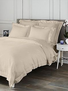 Saks Fifth Avenue Collection Butterfly Flange Flat Sheet