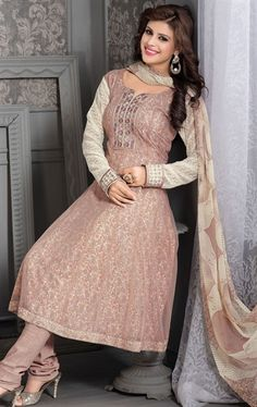 Picture of Charming Cream Color Ready Made Salwar Kameez