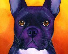 Bulldog painting | Etsy