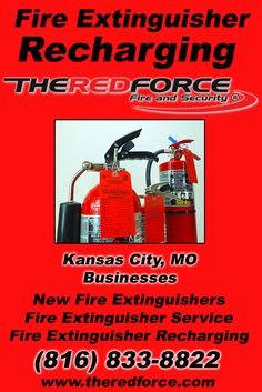 Fire Extinguisher Recharging Kansas City, MO (816) 833-8822 Check out The Red Force Fire and Security.. The Complete Source for Fire Protection in Missouri. Call us Today!