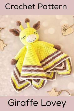 Giraffe Comforter Amigurumi Pattern African Animal Giraffe Lovey Crochet Pattern Giraffe Doll Easy Crochet Pattern Stroller Toy Baby Teether Crochet Lovey Free Pattern, Easy Crochet Patterns, Baby Blanket Crochet, Amigurumi Patterns, Crochet Baby, Spiral Crochet, Single Crochet Decrease, Giraffe Crochet, Dmc Embroidery Floss