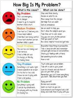 How Big Is My Problem? Chart and Worksheet How Big Is My Problem? Chart and Worksheet,premios counseling social work emotional learning skills character Social Skills Lessons, Social Skills For Kids, Social Skills Activities, Teaching Social Skills, Counseling Activities, Social Emotional Learning, Coping Skills, Therapy Activities, Anger Management Activities For Kids