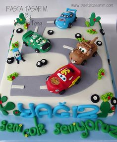 DISNEY CARS BIRTHDAY CAKE - YAĞIZ by CAKE BY NESRİN TONG, via Flickr